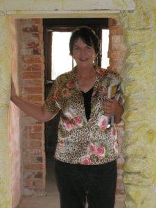 Linda at de Grazia's studio