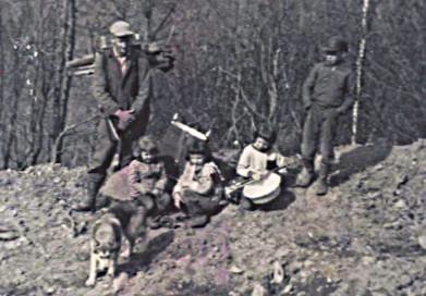 1959 May - walking the mountain, dad's so thin!