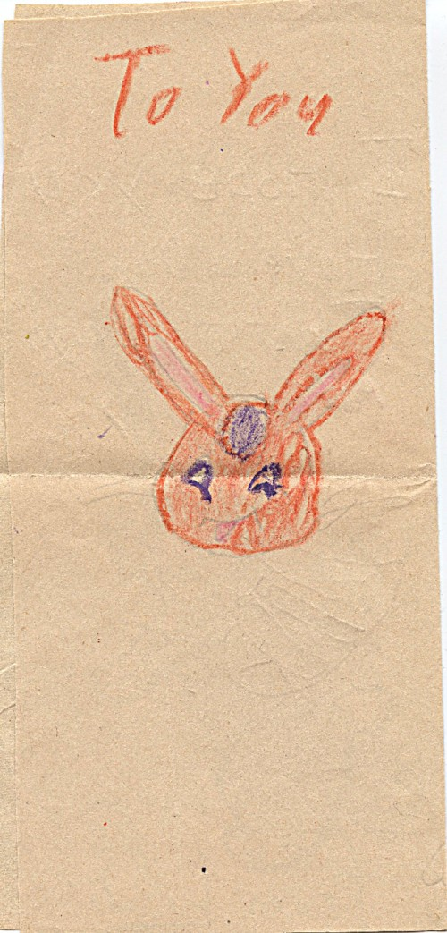 Maybe it was her 1960 December birthday, I would have been 9 -- wonder why I chose the Easter bunny for an image?