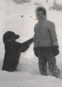 December 1959 - Age 7 - Me cut off from Smokey