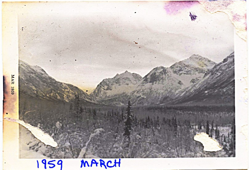 1959 March Angel Mt. looking back into valley from below the homestead