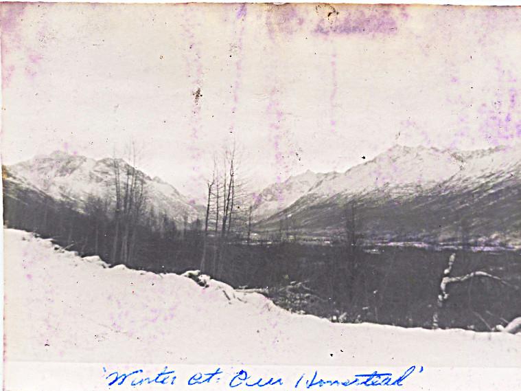 1959 winter - snow on the homestead