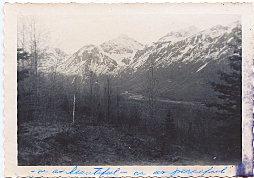 195 view of the land, note the snow line, not sure of the month here but I think it was May