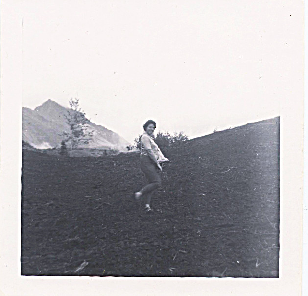 1960 - I think, Mom planting the fields