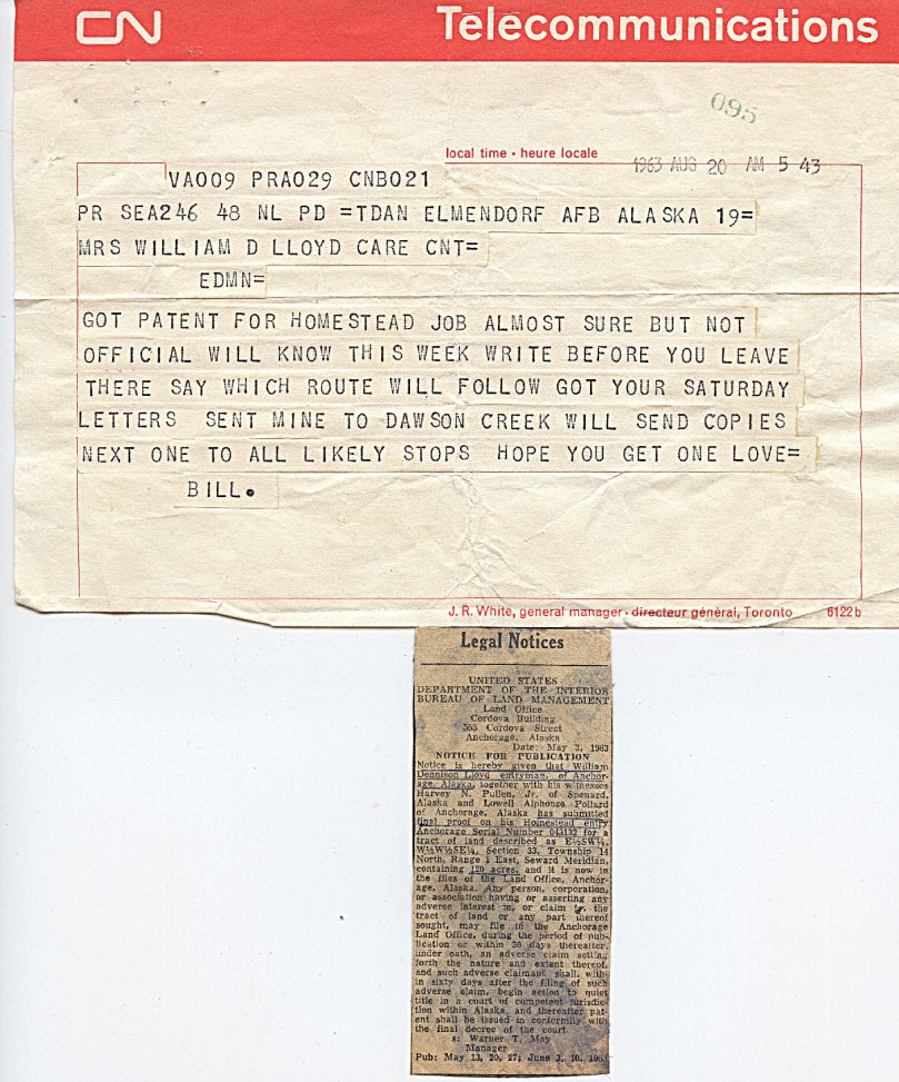 1963 8-20 land patent note