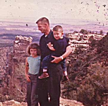 1963 dad sharon dave grand canyon - probably October - going back to Alaska from Santa Fe