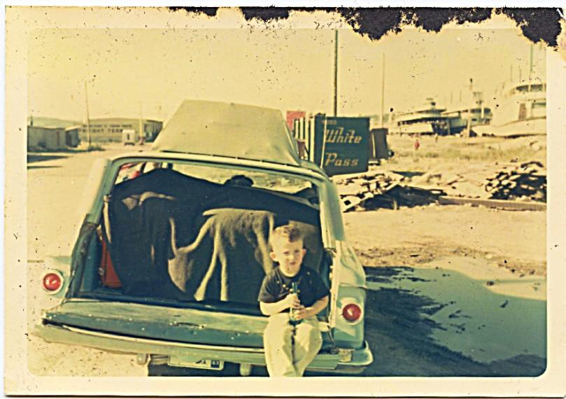 1963 dave on car trip santa fe