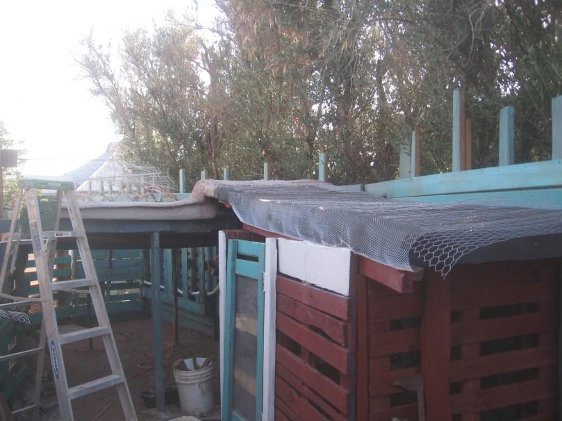 The stuccoed roofs