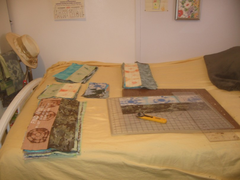 Inside work - making baby quilts